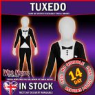 "CHILDS BOYS TUXEDO MORPHSUIT PARTY FANCY DRESS COSTUME LARGE 10- 12  4' 6"" TO 5' HEIGHT"